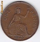 Anglia-Marea Britanie PENNY 1945 regele George VI.