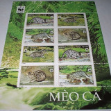 VIETNAM 2010 - WWF- FISHING CAT -MINISHEET 2 SERII - NEUZATE - Timbre straine