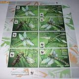 BELARUS 2010 - WWF- LIBELULE -MINISHEET 2 SERII - NEUZATE - Timbre straine