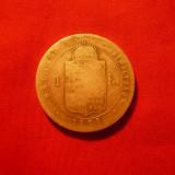 1 Forint 1879 Fr.Josef Ungaria, argint, d=3cm, cal.medie-buna