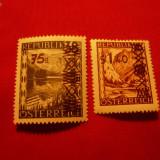 Serie- Uzuale cu supratipar -Vederi 1947 Austria, 2 valori