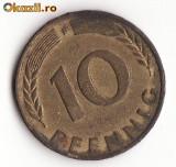 MONEDA 10 PFENNIG GERMANIA 1950, Europa