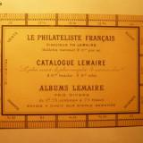 Odontometru cu reclama filatelica franceza - inainte de I Razboi