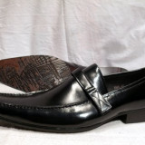 Pantofi italieni FERREDIMANI fara sireturi cu catarama ENZO - REDUCERE EXCEPTIONALA DE PRET - Pantofi barbat, Marime: 39, 40, 41, 42, 43, 44, 45, Culoare: Negru, Piele naturala