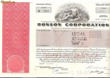 343 Actiuni -RONSON CORPORATION -seria RC 0869
