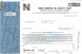 379 Actiuni -NORTH EUROPEAN OIL ROYALTY TRUST-seria NEC2691