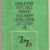 """(C170) """"INDRUMARI METODICE PRIVIND PREDAREA LIMBII LATINE..."""", DE D. POP, EDP, BUCURESTI, 1981 - Manual scolar"""
