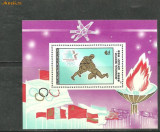Mongolia 1984 - LUPTE GRECO ROMANE. J. O. LOS ANGELES, colita nestampilata, PT29, Sport, Nestampilat
