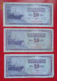 lot 2 bancnote Iugoslavia 20 dinari 1974-1978