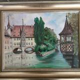 ULEI pe panza - set compus din 2 tablouri (origine: Germania) - Pictor strain, Altul