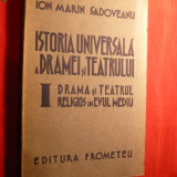 I.Marin Sadoveanu - Drama si Teatrul Religios in Ev Mediu1942 - Carti Istoria bisericii