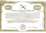 509 Actiuni -Phoenix Materials Corporation -seria S 1105