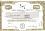 510 Actiuni -Phoenix Materials Corporation -seria S 1379