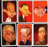 Set 6 calendare de buzunar, politicieni romani,2009
