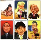Set 6 calendare de buzunar, politicieni romani,2011