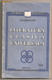 "(C300) ""LITERATURA CLASICA UNIVERSALA"" VOL. 4; CL. I-IV"