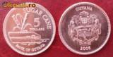 Guyana 5 dollar 2008 UNC, Africa