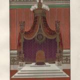 Litografie sfarsit de secol XIX, Tronul lui Napoleon Bonaparte