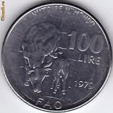 Italia FAO, 100 Lire 1979, comemorativa, anul nutritiei