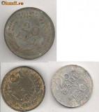 Lot Monede Romania 25 bani 1982, 20 lei 1944, 5 lei 1942