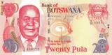 BOTSWANA █ bancnota █ 20 Pula █ 2006 █ P-27b █ UNC █ necirculata