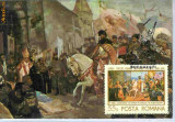Ilustrata maxima Tabloul Mihai Viteazul intrand in Alba Iulia