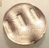 1.243 GERMANIA 1 DEUTSCHE MARK 1993 G DEMONETIZATA, Europa, Cupru-Nichel