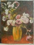 Cumpara ieftin Vaza cu flori - 4 pictura in ulei pe carton