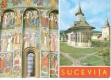 CP187-77 Sucevita-ansamblu arhitectural medieval -carte postala necirculata