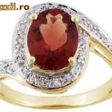 Inel de aur cu pietre pretioase si semipretioase naturale - Inel aur, Carataj aur: Nespecificat, Culoare: Galben