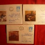 3 Plicuri -Intreguri Postale -Jocuri Mondiale ale Surzilor 1977 - Plic Papetarie