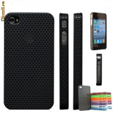 Husa plastic iPhone 4 + folie ecran + expediere gratuita Posta - sell by Phonica