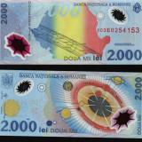 Eclipsa de soare, bacnota din polimer, 1999 - Bancnota romaneasca