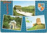 CP193-15 Judetul Cluj: Poieni, Cabana Valea Draganului: Calatele, Cabana Ardeleana; Poieni, Cetatea Bologa(stema) -carte postala circulata 1978