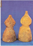 CP194-54 Doua figurine de lut ars -Cirna-Dunareni(jud.Dolj)Epoca bronzului -Muzeul National de Istorie -carte postala necirculata