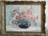 Cumpara ieftin Megyesi Lucretia , vaza cu flori , pictor Baia Mare, pictura ulei pe panza