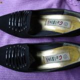 PANTOFI DIN FETRU NEGRU - MARIMEA 38 - Pantof dama