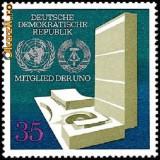 Germania DDR 1973 - Aderarea DDR la UN - Neuzat