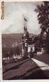 Ok-0749- Romania, Sinaia, c.p. foto circulata 1938: Castelul Peles, steag