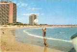 S12351  saturn plaja  copil cu minge circulata