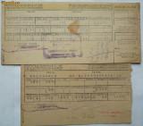 Societatea Generala de Gaz si Electricitate Bucuresti , 1945 , 3 facturi pe carton