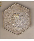 CIA 51 Medalie Pentru Recunoasterea Meritelor-Expozitia Secuiasca-Expozitia Agricola aArdealului-Asociatia Economica Ardeleana, Cluj1907 -52X59 mm