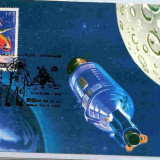 Ilustrata maxima Comonautica - Apolo 1-2-3 - Timbre Romania