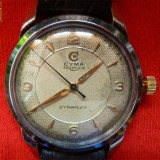 * Ceas Cyma - Tavannes 1950 - original - Ceas barbatesc, Mecanic-Manual, 1940 - 1969
