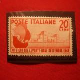 Serie-Targul Levantului -A14a Editie- Bari, 1949 Italia, 1 val.
