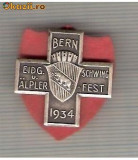 CIA 197 Medalie  Schwing -Bern 1934 (lupte -Wrestling )(Elvetia) -dimensiuni, circa 26X26 milimetri