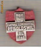 CIA 193 Medalie  Schwingertag Reigoldswil 1948 (lupte -Wrestling )(Elvetia) -dimensiuni, circa 26X26 milimetri