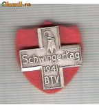 CIA 206 Medalie  Schwingertag 1941 (lupte -Wrestling )(Elvetia) -dimensiuni, circa 24X24 milimetri