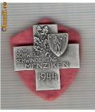 CIA 204 Medalie  Schwing MENZIKEN 1944 (lupte -Wrestling )(Elvetia) -dimensiuni, circa 25X25 milimetri