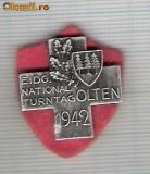 CIA 210 Medalie  ( Schwing-turneu national)  OLTEN 1942 (lupte -Wrestling )(Elvetia) -dimensiuni, circa 25X25 milimetri